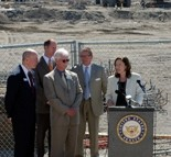 Senator Maria Cantwell announces her support of the Farwest Steel Processing Center.