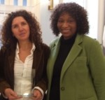 At the awards ceremony: Ercole owner Ornella Pisano with Ruth J. Morrison, Executive Director of BITDC