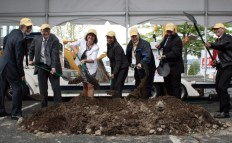 NDC's John Finke, second from left, with the Tacoma City Council at the LeMay Museum groundbreaking on June 10, 2010.