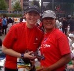 NDC's Misty Baskett and Michelle Morlan after running the Rock 'n Roll Seattle Half Marathon.