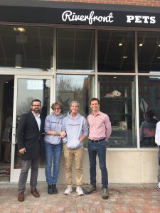 From Left: NDC Loan Officer Conor McCarthy, Clint & Laura Gangloff (the owners) and Jeff Flynn, the Director of Economic Development for the City of Wilmington